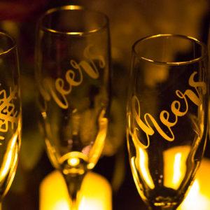 Champagne Flute Set of 4 Glasses