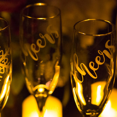 Champagne Flute Set of 4 Glasses